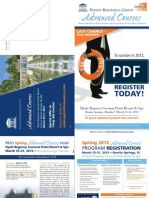 PRG Spring 2012 Advanced Courses Brochure