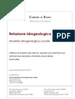 Relazione Idrogeologica Quadro Alto