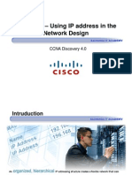 CCNA Dis4 - Chapter 6 - Using IP Address in the Network Design_ppt [Compatibility Mode]