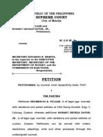 Petition FEP&HobartDaturJrvsOfcoftheExecutiveSecretaryEtal SC AttyEscobido 12-03-07 FINAL[1]