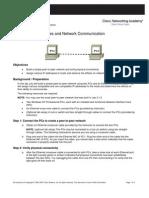 Lab 3-5-2 IP Addresses and Network Communication