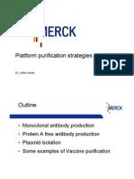 Merck Workshop - Platform Purification Strategies