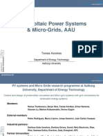 13891 Photo Voltaic Power Systems and Micro Grids