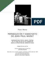 14245892 Weiss Peter Persecucion y Asesinato de JeanPaul Marat MaratSade