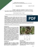 Qualitative Analysis by HPLC