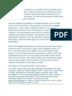 Microwave Power Transmission