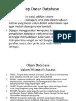 Konsep Dasar Dan Pemanfaatan Database