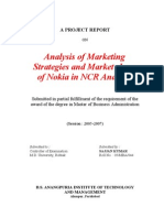 Analysis of Marketing Strategies and Market Share of Nokia in NCR
