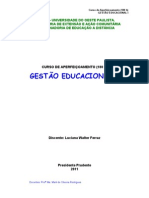 Curso de Gestão Educacional - Atividades
