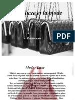 le luxe et la mode