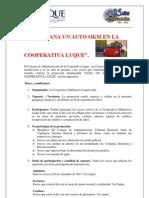 PROMO GANA UN AUTO OKM EN LA COOPERATIVA LUQUE