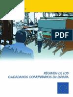 Regimen de Los Ciudadanos Comunitarios en Espana