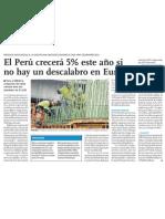 Crecimiento Economía del Perú para 2012 es de 5%. Muchas Oportunidades Empresas