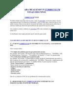 Manual Para Realizar Un Curriculum Vitae Efectivo