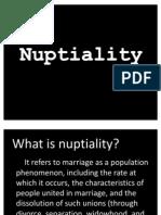 Nuptiality