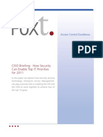 FoxT_wp_CISO Briefing - How Security Can Enable Top IT Priorities for 2011-0611-Final