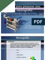 Guía para preparar una monografía Actualizada