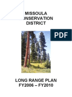 Long Range Plan - Missoula Conservation District