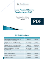 Annual Product Review Developing an SOP