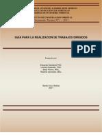 Guia de Trabajo Dirigido Carrera de Ing. Forestal UAGRM