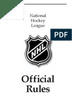 NHL Rule Handbook 2007-2008
