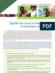 Égalité des sexes et émancipation économique des femmes
