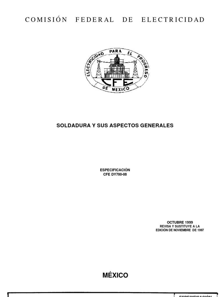 Dy700-08 Soldadura y Sus Aspectos Generales
