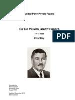 DeVilliers Graaff Papers Unisa