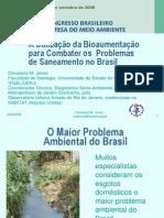 A Utilizacao da Bioaumentacao para Combater os Problemas de Saneamento no Brasil