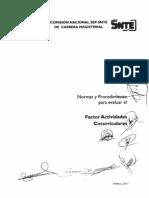 Normas y Procedimiento Factor Actividades Cocurriculares-2011