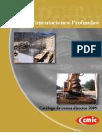 Catalogo de Costos Directos Cimentaciones Profundas