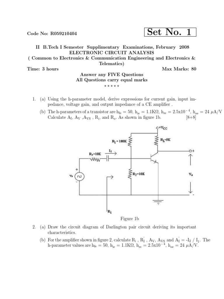 R059210404 Electronic Circuit Analysis Feb08 Amplifier Bipolar The Darlington Pair Schematic Diagram Junction Transistor