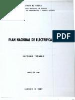 Plan Nacional de Electrificacion CADAFE-Electricite de France