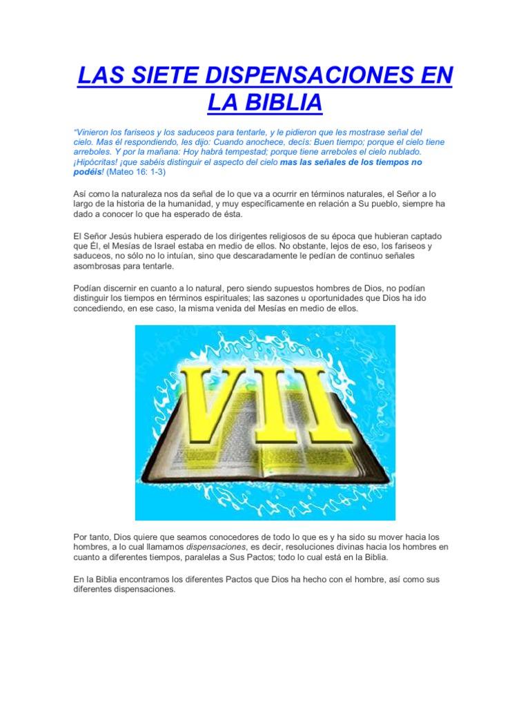 Las Dispensaciones Biblicas Pdf