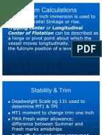 Stability & Trim, Stress Calculations