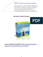 Spiritual Courses Alternative Healing