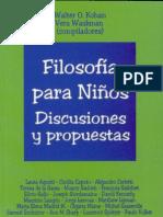 FILOSOFIA PARA NIÑOS- DISCUSIONES Y PROPUESTAS