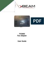 Beam Fax Adapter User Guide