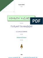 Hacène SAHKI - Tutlayt n Tamazight - Tadukli