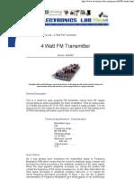 4 Watt Fm Transmitter