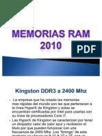 Memorias Ram 2010