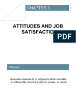 Chapter 3 - Value, Attitudes n Job Satisfaction