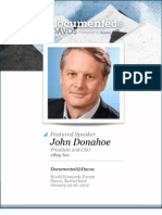 John Donahoe is Documented@Davos