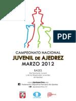 BASES de los Campeonatos NACIONAL y REGIONALES de Ajedrez MARZO 2012 - FDPA