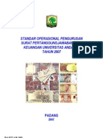 Standard Operating Procedure Spj Keuangan Unand