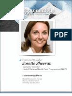 Josette Sheeran is Documented@Davos