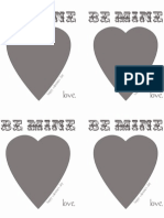 Be Mine - Printable Valentines 2012