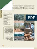 Avances y limitaciones en la adopcion del manejo forestal sostenible en Bolivia