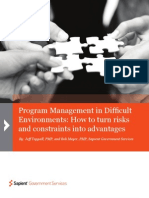 Program Management in Difficult Environments