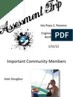 EWB Assessment Trip January 2012
